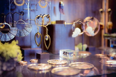 Earring display at Black Hole Reno